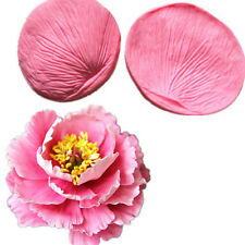 Round peony flower petals petals texture fondant cake mold decoration Tool mould
