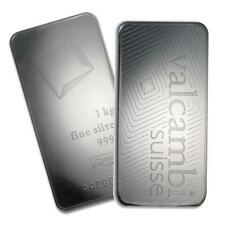 One piece 1 kilo 0.999 Fine Silver Bar Valcambi with Assay-78911 Lot 7248
