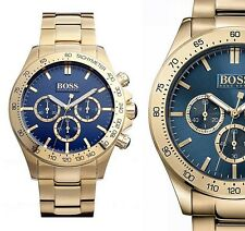 Original Hugo Boss HB1513340 Ikon Chrono Herrenuhr Farbe:Gold/Blau NEU!UVP:549€