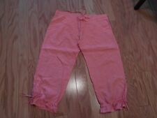 JUICY COUTURE CAPRI PANTS Prettiest Shade SHERBERT 100% LINEN TOILE Sz LARGE vgc
