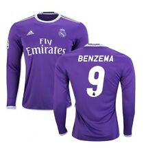 New Genuine Adidas Real Madrid 2016/17 Away L/S Shirt BENZEMA 9 Jr XL 13-14