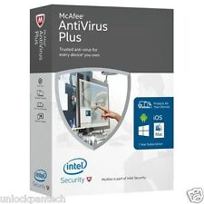 McAfee ANTIVIRUS PLUS 2016 UNLIMITED DEVICES Android Mac IOS Activation Code