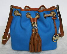Michael Kors Marina Medium Messenger Bag Purse Heritage Blue New NWT