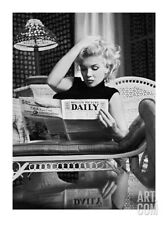 Marilyn Monroe Reading Motion Picture Daily, New York, c.1955 Art Print