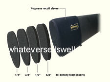 Brown SLIP ON NEOPRENE RECOIL PAD STOCK EXTENSION REDUCING Shotgun GUN shooting