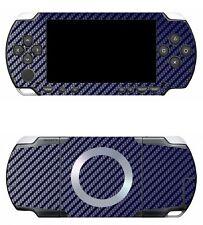 Blue Carbon Fiber Vinyl Decal Skin Sticker Cover for Sony PSP 1000