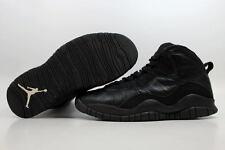 Nike Air Jordan X 10 Retro Black/White Blackout 2005 310805-010 Men's SZ 10