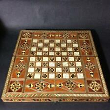 """11.8"""" craft ornate Handmade MOSAIC BACKGAMMON BOARD INLAID MOTHER OF PEARL Chess"""