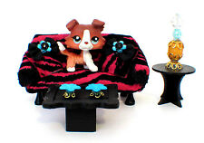 Littlest Pet Shop OOAK Wood Furniture Custom Handmade for LPS or dollhouse Lot2