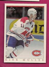 RARE 1992-93 OPC # 26 CANADIENS KIRK MULLER  FANFEST LIMITED /5000 CARD