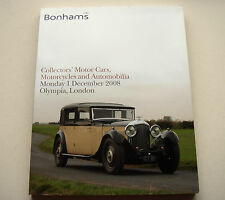 Bonhams. collectors 'motor cars. olympia 2008 auction catalogue
