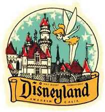 Disneyland  Fairy  Anaheim, CA   Vintage-Looking  Sticker-Decal-Luggage Label