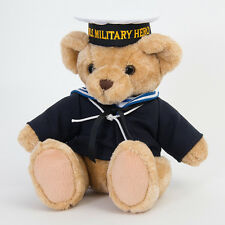 Teddy Bear Plush Jointed Sailor Navy Military Uniformed Stuffed NEW