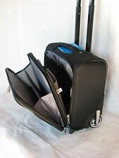 "15"" 40LB. CAPACITY BLACK ROLLING WHEELED LAPTOP BAG / BRIEFCASE/ CARRYON LUGGAGE"