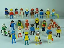 Playmobil 26 Figures Vintage 1974 Men Women Pirate Viking Police Accessories