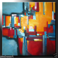 """44""""x44"""" Abstract Original Painting Canvas Modern Office Art Wall Design Colours"""