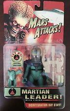 1996 Tim Burton Mars Attacks Martian Leader Action Figure Working Rare - Sealed!