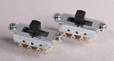 Two 2 Switchcraft Slide Switches For Fender Mustang Jag Stang Guitar Black Color