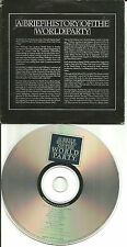WORLD PARTY A Brief History of the 10 SONGS CAREER SAMPLER PROMO DJ CD 1997