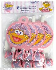 ZOE BALLERINA BLOWOUTS (8) ~ Birthday Party Supplies Sesame Street Favors Pink