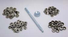 Snap Fastener Kit With 20 Snaps And Setting Tool For Thinner Materials