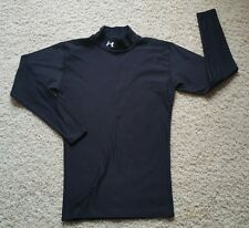 Men's Under Armour Coldgear Long Sleeve Fitted Mock Shirt SZ L Black