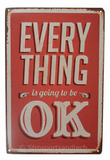 Everything is Okay Tin Sign Bar Cafe Diner Garage Wall Decor Retro Metal Vintage