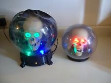 SPIRIT BALL LOT. 2 Halloween props. Animated, talking, light up, USED.