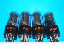 6K6GT vacuum tubes 4 valves RCA radio amplifier vintage electronic tested 6K6G