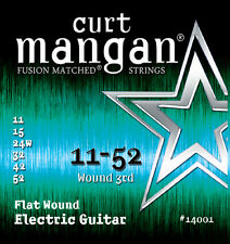 Curt Mangan 11-52 Flatwound Light Electric Guitar Strings