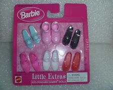 "Barbie Shoes - Mattel "" Little Extras "" For Flat Foot Dolls  NIP Minty Package"