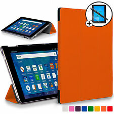 Forefront Cases Orange Smart Case Cover Amazon Fire HD 8 2016 Screen Prot Stylus