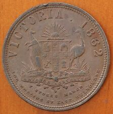 1862 Australia Trade Token Richmond Victoria Penny Barrowclough R. 144  RARE