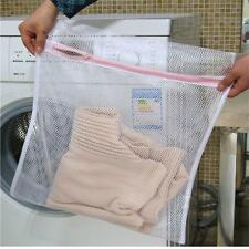 Laundry Washing Mesh Net Lingerie Underwear Bra Clothes Sock Zipped Wash Bag BP
