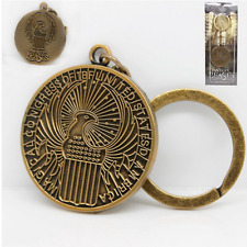 Chic copper Fantastic Beasts And Where To Find Them Macusa Metal Keychain Keyrin