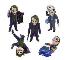 5pcs The Dark Knight Batman Joker Heath Ledger Mini Toy Figure Doll New In Box