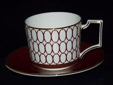 Wedgwood Bone China Renaissance RED  CUP & SAUCER New 1st Quality.