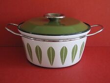 Catherineholm Green Lotus on White Casserole - Excellent Condition