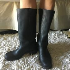 Women's Frye Classic Black Campus Leather Boots 8.5 8 1/2