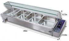 4-Pan Food Warmer Buffet Bain Marie Steam Table 110V 1500W Warming Equipment