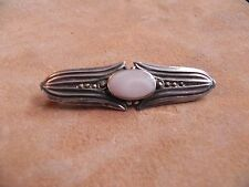 Pink Mother of Pearl, Marcasite & Sterling Silver .925 Pin Brooch
