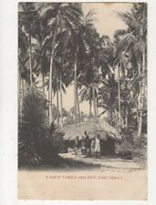 A Kafir Family And Hut East Coast South Africa Vintage Postcard 586a