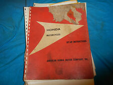 1960'S 60 61 62 63 64 65 HONDA SET-UP INSTRUCTIONS #1 PARTS MANUAL BOOK CATALOG