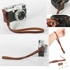 Black PU Leather Camera Hand Wrist strap For Canon Nikon Olympus Panasonic
