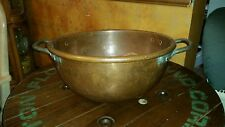 "Antique Large 20"" Copper Kettle Corn Apple Butter Pot Handcrafted  Rare 20 lbs"