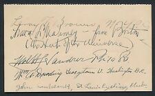 1924 LEROY BROWN and More Olympics Vintage Autographs (5 Signatures)