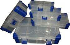 5 Piece Clear Plastic Storage Box Set