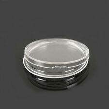10pcs 23mm Applied Clear Round Cases Coin Storage Capsules Holder Plastic CY