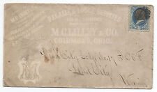 1880s Shaded Advertising Cover  M.C. Lilley Lodge Supplies Columbus Ohio
