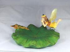Lily Flottante avec FÉE & grenouille-jardin étang Ornement-cadeau inhabituel